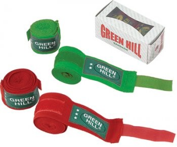 "Боксерские бинты Bandages ""COTTON"" Green Hill"