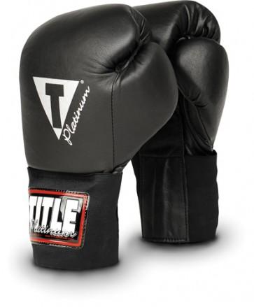 Боксерские тренировочные перчатки TITLE Platinum