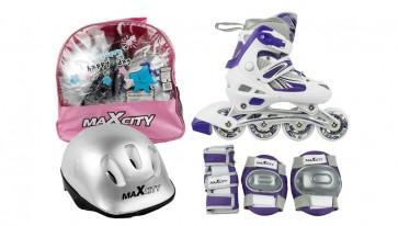 Детские роликовые коньки + защита  ILLUSION COMBO VIOLET