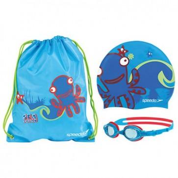 Набор для плавания детский: очки, шапочка, сумка SPEEDO SEA SQUAD