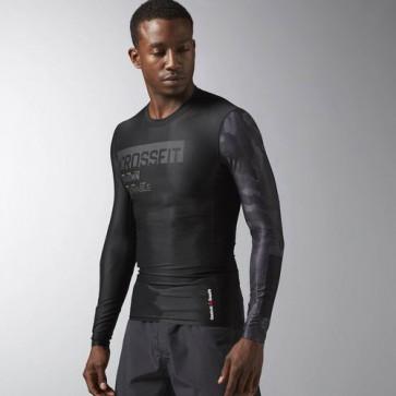 Компрессионная мужская футболка с длинным рукавом Reebok CrossFit