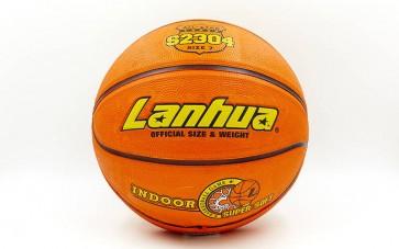 Мяч баскетбольный резиновый №7 LANHUA S2304 Super soft Indoor