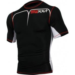 Компрессионная футболка TITLE MMA Short Sleeve Quad-Flex Adversary