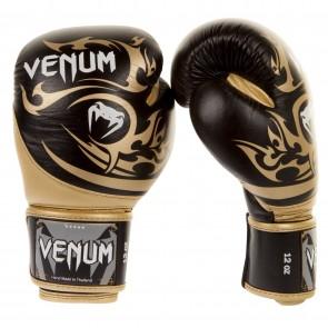 Боксерские перчатки Venum Tribal Boxing Gloves - Black/Gold