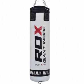 Боксерский мешок RDX Leather white 1.2м, 40-50 кг