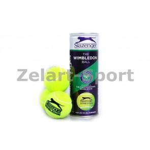 Мяч для большого тенниса SLAZENGER (3шт) 340884 WIMBLEDON
