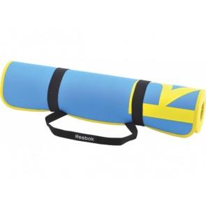 Коврик для фитнесса и аэробики Reebok, Цвет: Голубой