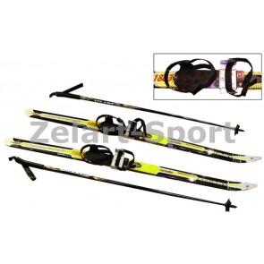 Лыжи беговые в комплекте с палками Zelart SK-1883-110B