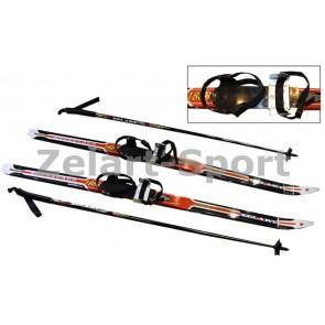 Лыжи беговые в комплекте с палками Zelart SK-1883-120B