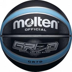 Мяч баскетбольный резиновый №7 MOLTEN BGRX7D-KLB