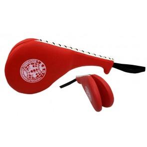 Ракетка для таеквондо Двойная PVC WTF  BO-4511-R Хлопушка (наполнитель - пенополиуретан, красная)