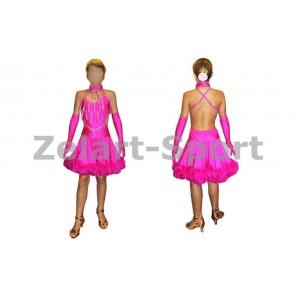 Платье Латина малиновый CO-130181-P (нейлон, эластан)