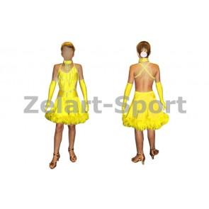 Платье Латина желтый CO-130181-Y (нейлон, эластан)