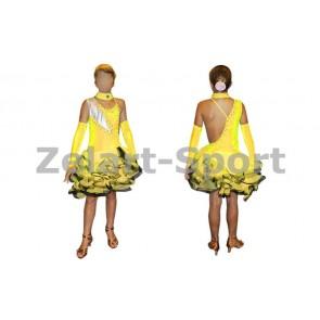 Платье Латина желтый. CO-130188-Y (нейлон, эластан)