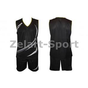 Форма баскетбольная мужская без номера CO-3868-BK