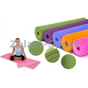 Коврик для фитнеса одноцветный TPE+TC 6мм FI-4937 Yoga mat