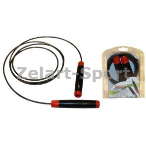 Скакалка со стальным тросом скоростная и регул. длиной PS FI-4035-C