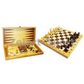 Шахматы, шашки, нарды набор настольных игр IG-CH-06