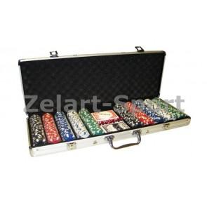 Покерный набор в алюм. кейсе-500 IG-2115