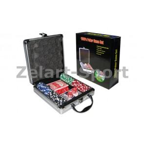 Покерный набор в алюм. кейсе-100 IG-2470