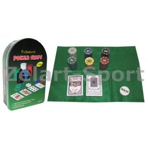 Покерный набор в метал. коробке-120 IG-3008