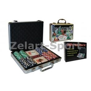 Покерный набор в алюм. кейсе-200 IG-4392-200
