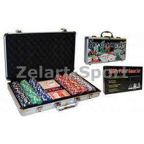 Покерный набор в алюм. кейсе-300 IG-4392-300