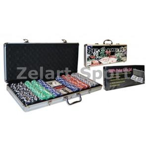 Покерный набор в алюм. кейсе-500 IG-4392-500