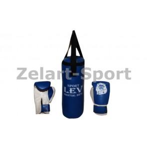 Боксерский набор детский (перчатки+мешок) ЛЕВ PVC UR LV-4686-B