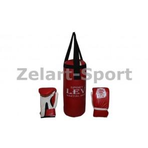 Боксерский набор детский (перчатки+мешок) ЛЕВ PVC UR LV-4686-R