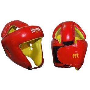 Шлем боксерский открытый с усиленной защитой макушки Кожа MATSA MA-4002-M