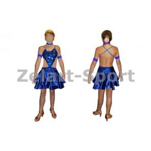 Платье Латина синий. RLD081126 (нейлон, эластан)