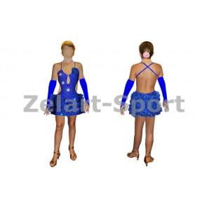 Платье Латина синий RLD120168 (нейлон, эластан)