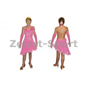 Платье Латина розов. RLD120173-P (нейлон, эластан)