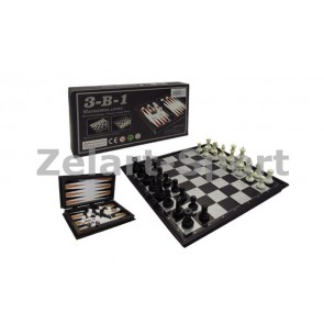 Шахматы, шашки, нарды дорожный набор SC56810