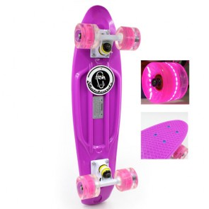 Скейт Penny Board LED Wheels Point Fish SK-406-1