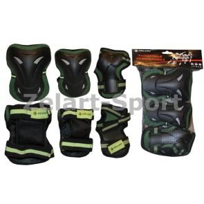 Защита спортивная наколенники, налокот., перчатки ZEL SK-3505G