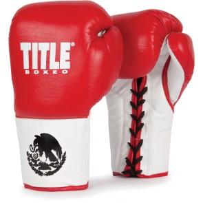 Профессиональные перчатки для бокса TITLE Boxeo Authentic ProFight Gloves