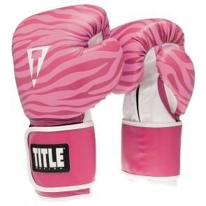 Женские боксерские перчатки TITLE Boxing Safari Zebra Fitness