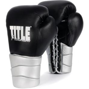Боксерские перчатки TITLE Platinum Paramount Lace Training Glove