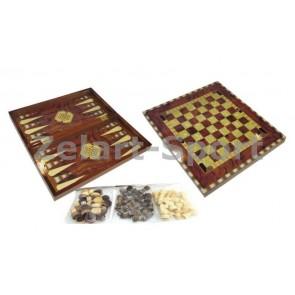 Шахматы, шашки, нарды набор настольных игр W5001