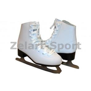 Коньки фигурные белые PVC Z-2151-34