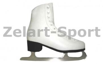Коньки фигурные белые PVC TK-082-B-36