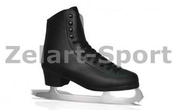 Коньки фигурные черные PVC TG-FO333B-43