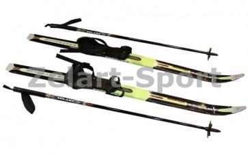 Лыжи беговые в комплекте с палками Zelart SK-1883-120A