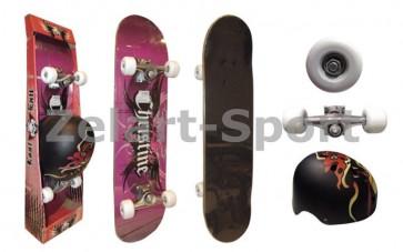 Скейтборд со шлемом LY-57 ENERO