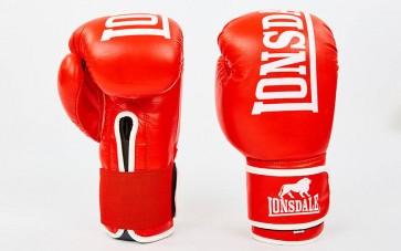 Перчатки боксерские кожаные на липучке LONSDALE MA-6760-R
