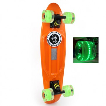 Скейт Penny Board LED Wheels Fish SK-405-3