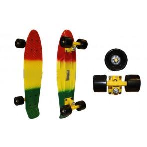 Penny (пенни) мини скейтборд мультиколор PC SK-402 Пластиковая рыба