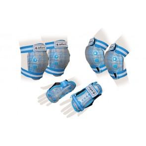 Защита спорт. наколенники, налокот., перчатки детские ZEL SK-4678BL CANDY